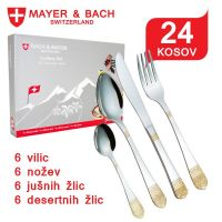 Jedilni pribor Italy iz nerjavečega jekla - 24-delni set Mayer & Bach (BM-2476-ITA)