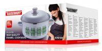 Emajliran kuhinjski lonec s pokrovko 2,5L beli (KH-9189)