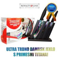 Komplet titanovih nožev na stojalu Royalty Line (RL-3TST)