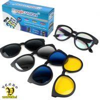 Sončna očala z magnetnimi zamenljivimi lečami 5v1
