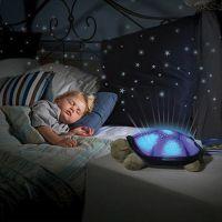 Nočna lučka z glasbo in svetlobnim efektom - želvica (TNS-01)