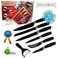 Kuhinjski noži z antibakterijsko keramično prevleko 6-delni komplet (RL-BLK6-W)