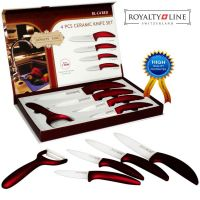 Komplet keramičnih nožev Royalty Line (RL-C4SC-RED)