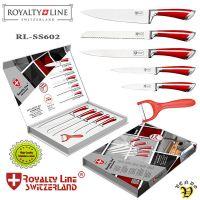 Noži iz nerjavečega jekla 6/1 rdeč ročaj (RL-SS602)