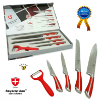 Noži iz nerjavečega jekla 5/1 rdeč ročaj (RL-SS502)