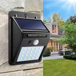 LED solarna zunanja luč/svetilka z 20 LEDIODAMI