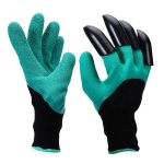 Vrtnarske rokavice s 4 kremplji za prekopavanje na vrtu