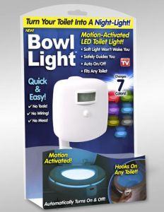 Toaletna LED lučka za wc školjko s sedmimi barvami